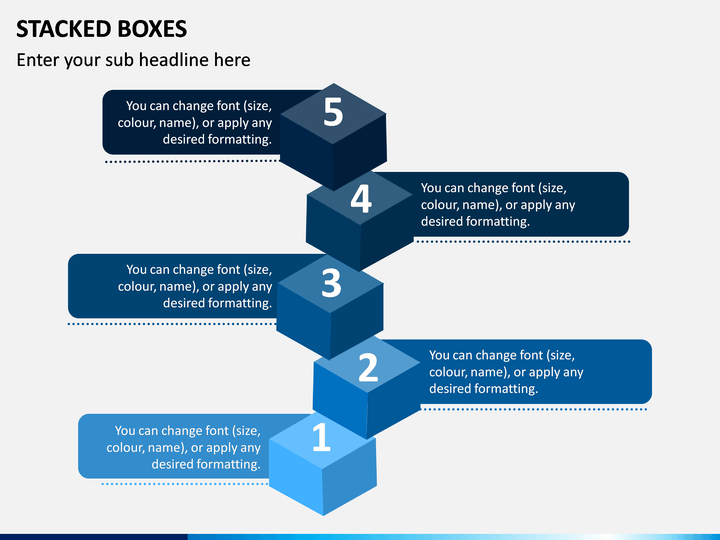 Stacked Boxes PPT Slide 1