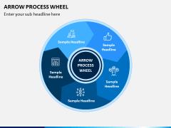 Arrow Process Wheel PPT Slide 1