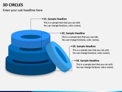 3D Circles PPT Slide 6