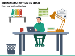 Businessman Sitting on Chair PPT Slide 2