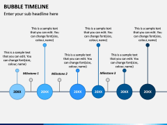 Bubble Timeline PPT Slide 8