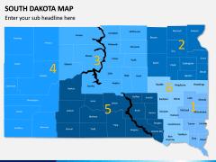 South Dakota Map PPT Slide 1