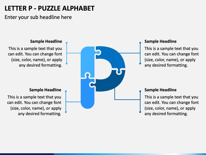 Letter P - Puzzle Alphabet PPT Slide 1