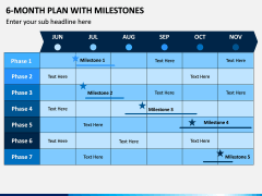 6 Month Plan With Milestones PPT Slide 2