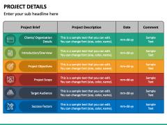 Project Details PPT Slide 2