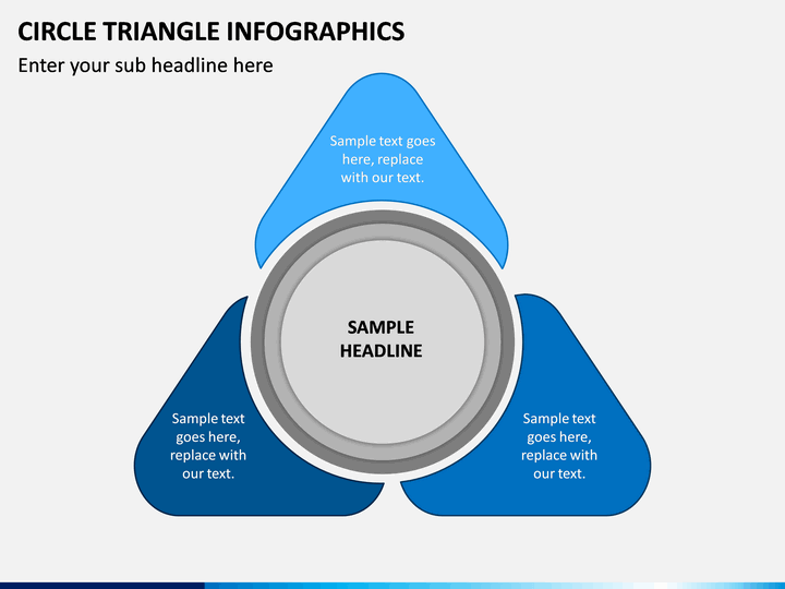 Circle Triangle Infographics PPT Slide 1