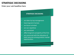 Strategic Decisions PPT Slide 15