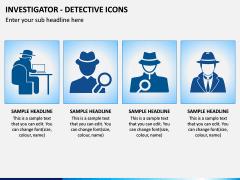 investigator Icons PPT Slide 2
