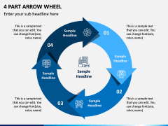 4 Part Arrow Wheel PPT Slide 1