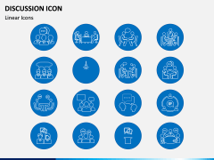 Discussion Icons PPT Slide 2