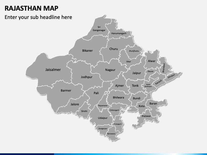 Rajasthan Map PPT Slide 1