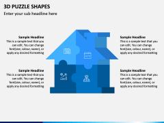 3D Puzzle Shapes PPT Slide 7