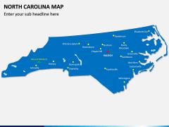 North Carolina Map PPT Slide 1