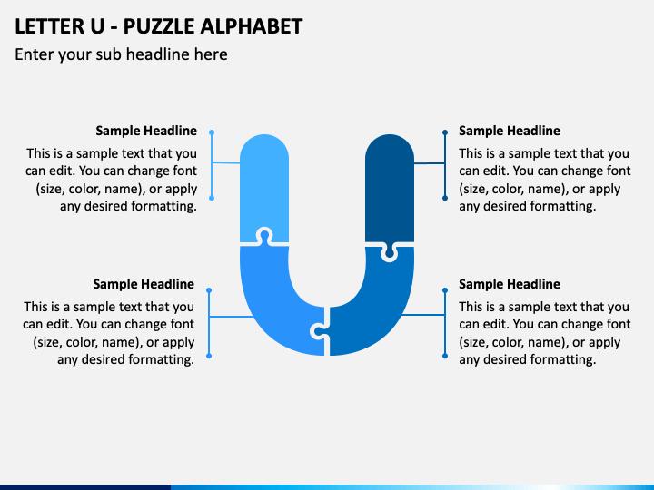 Letter U - Puzzle Alphabet PPT Slide 1