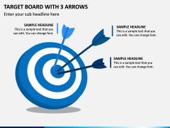 Target Board With 3 Arrows PPT Slide 1