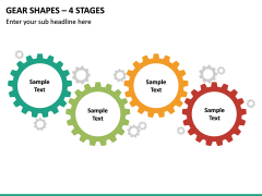 Gear Shapes – 4 Stages PPT Slide 2