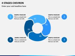 4 Stages Chevron PPT Slide 1