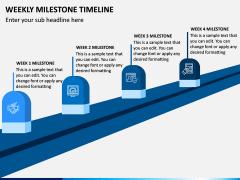 Weekly Milestone Timeline PPT Slide 1