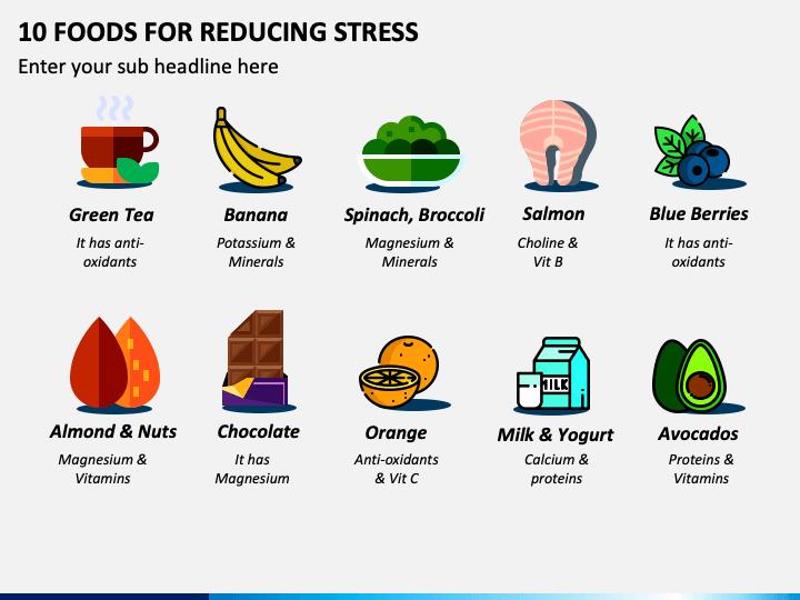 10 Food for Reducing Stress PPT Slide 1