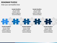 Roadmap Puzzle PPT Slide 5