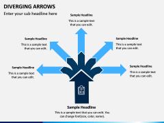 Diverging Arrows PPT Slide 9