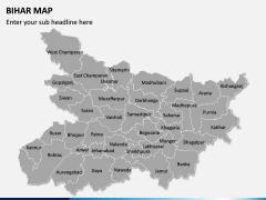 Bihar Map PPT Slide 1