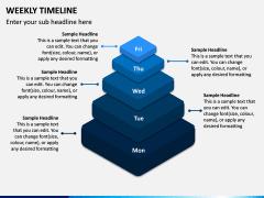 Weekly Timeline PPT Slide 4