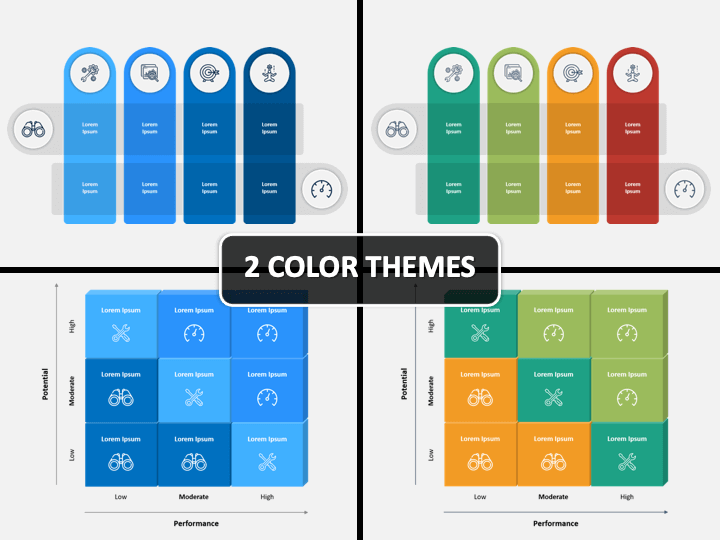 Infographic Matrix PPT Cover Slide