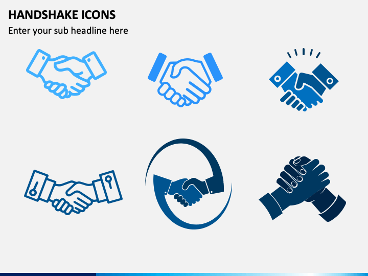 Handshake Icons PPT Slide 1