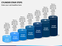 Cylinder Stair Steps PPT Slide 1