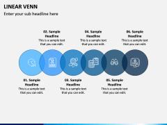 Linear Venn Diagram PPT Slide 6