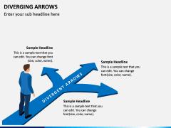 Diverging Arrows PPT Slide 4