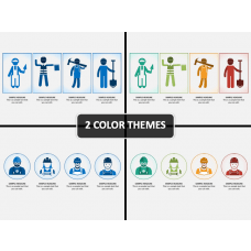 Construction Worker Icons PPT Cover Slide