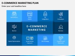E-commerce Marketing Plan PPT Slide 1