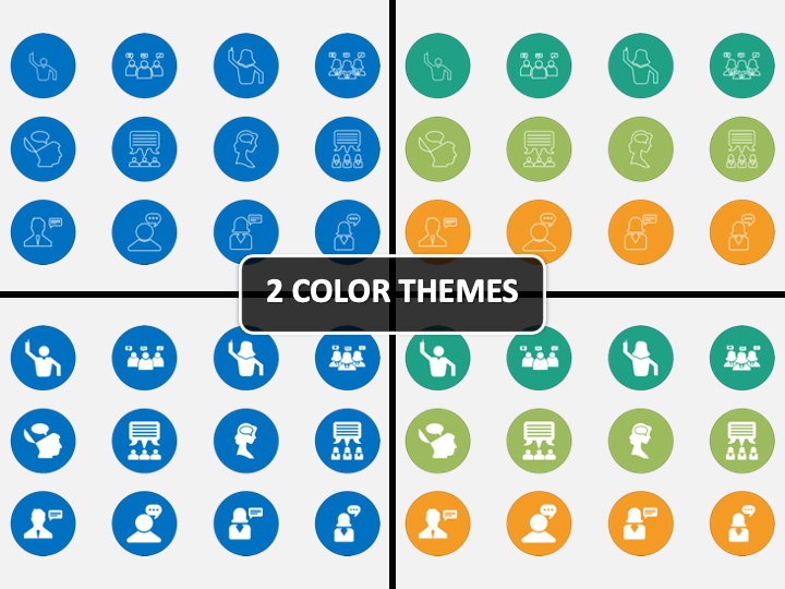 Opinion Icons PPT Cover Slide