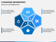 4 Hexagons Infographics PPT Slide 1