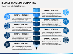8 Stage Pencil Infographics - Free PPT Slide 1