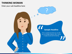 Thinking Woman PPT Slide 1