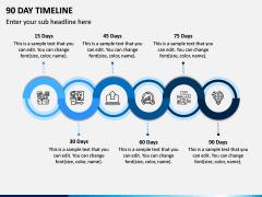 90 Day Timeline PPT Slide 1