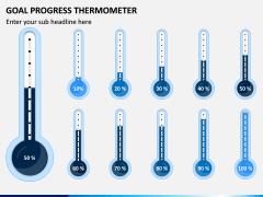 Goal Progress Thermometer PPT Slide 1