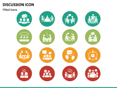 Discussion Icons PPT Slide 3