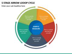 5 Stage Arrow Looop Cycle PPT Slide 2