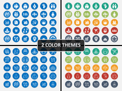 Demography Icons PPT Cover Slide