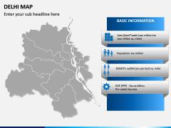 Delhi Map PPT Slide 3