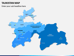 Tajikistan Map PPT Slide 1