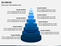 3D Circles PPT Slide 1