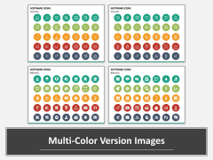 Software Icons Multicolor Combined