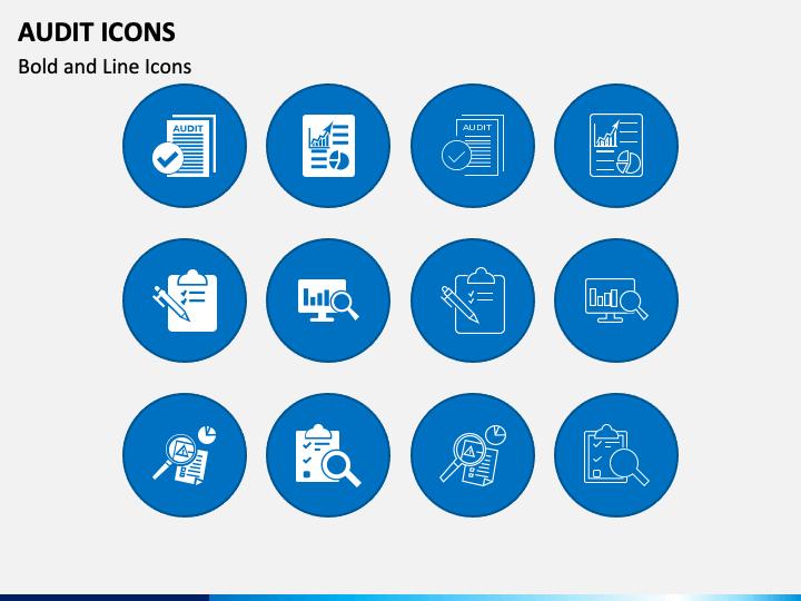 Audit Icons PPT Slide 1