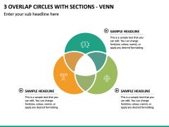 3 Overlap Circles with Sections - Venn PPT Slide 2