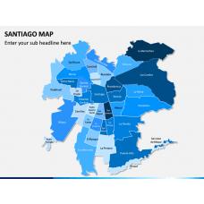 Santiago Map PPT Slide 1